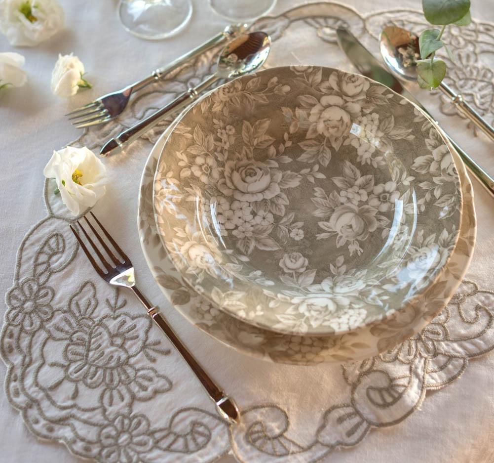 Blanc MariClo' - Servito di piatti Splendor beige- Blog
