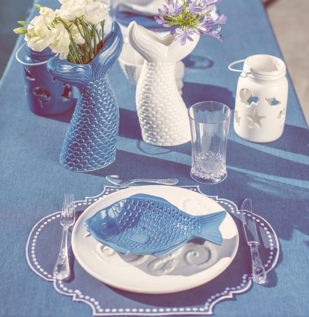 Blanc MariClo' - tessile blue e bianco - Vassoi, piatti, decori serie Salina - Blog