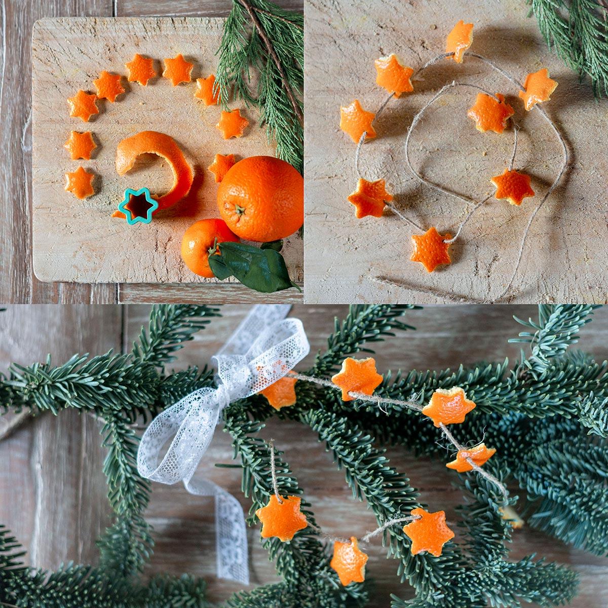 Decorazione albero di Natale fai da te con arancio