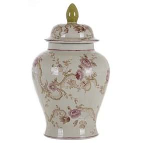 DECORATIVE VASE WITH LID A25823
