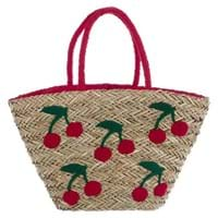 CHERRY EMBROIDERED BAG