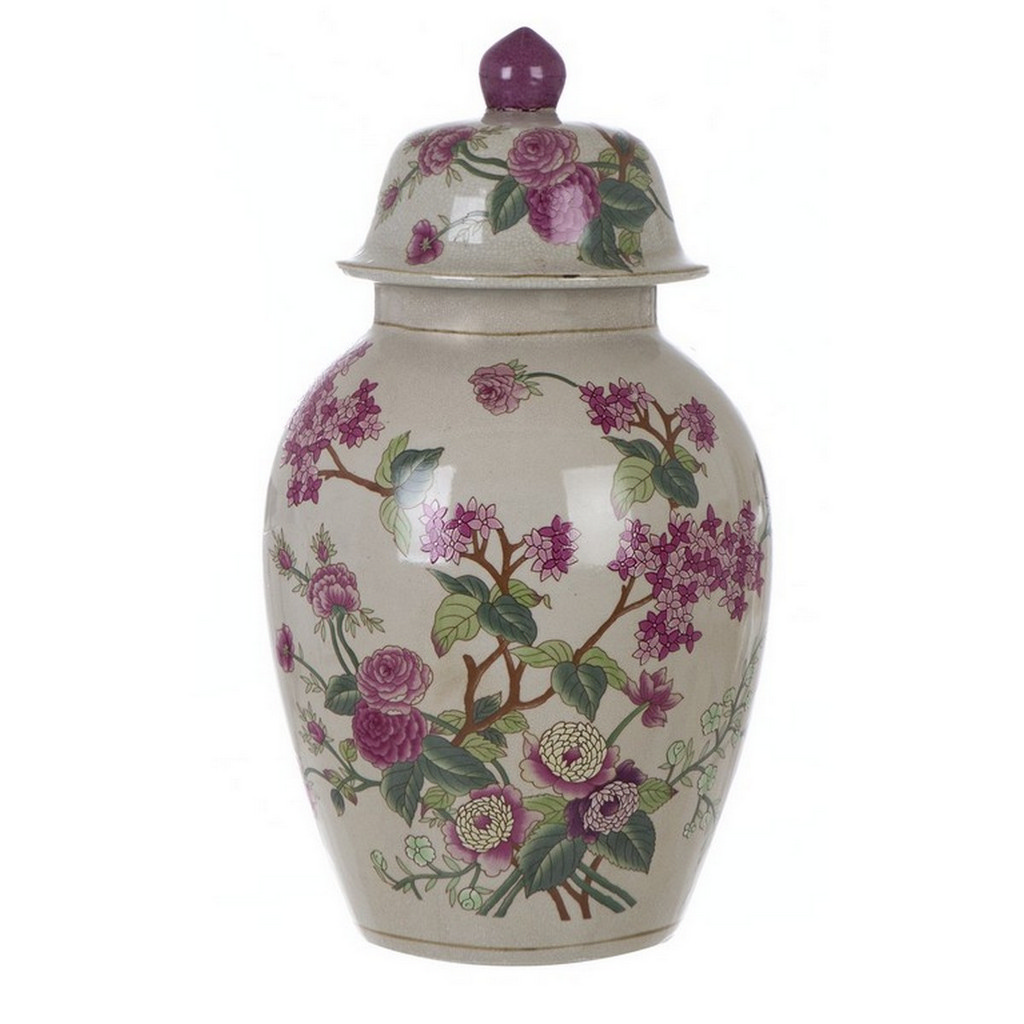DECORATIVE VASE WITH LID A27989