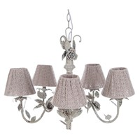 CHANDELIER WITH 5 LAMPSHADE DIA.15CM