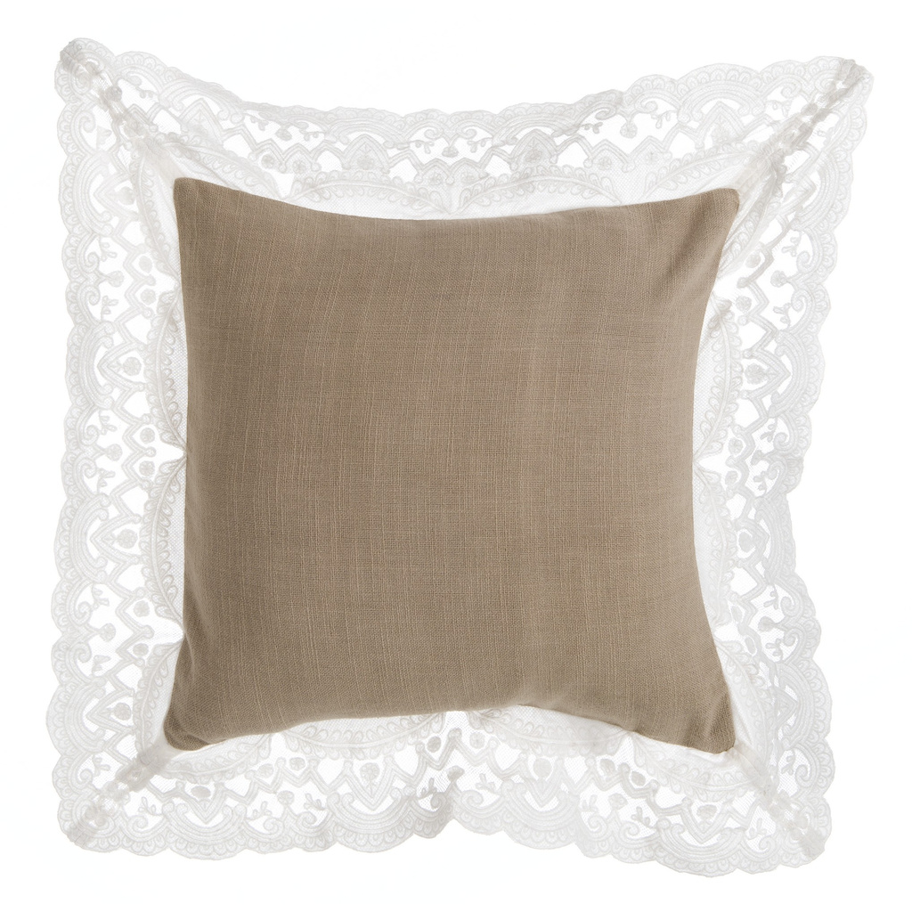 CUSHION WITH LACE A28826