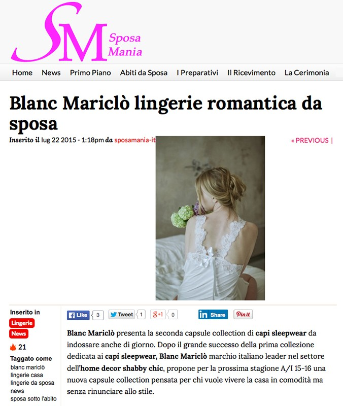 Sposa Mania - of July 2015