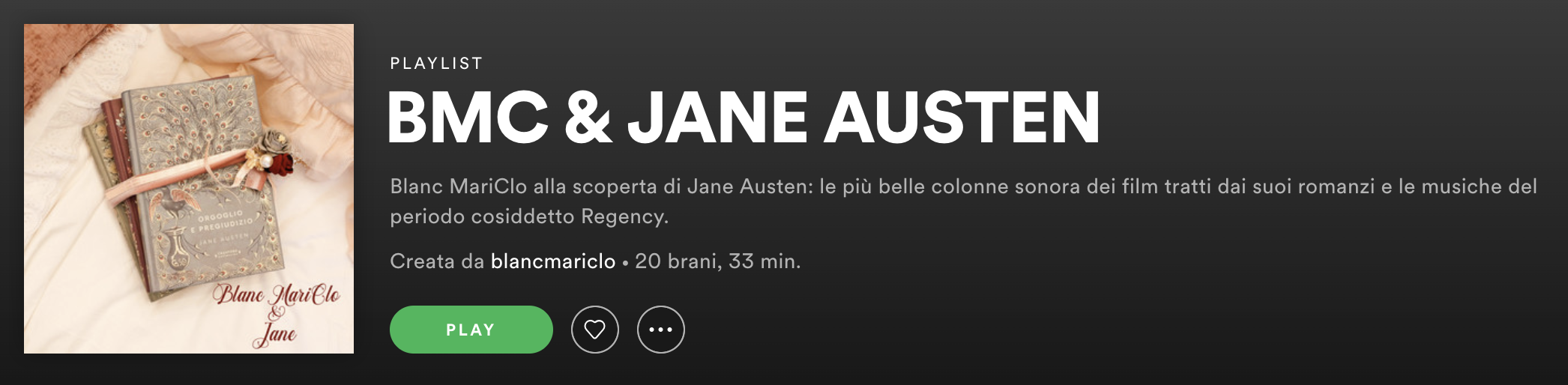 Blanc MariClo' - Jane Austen Playlist